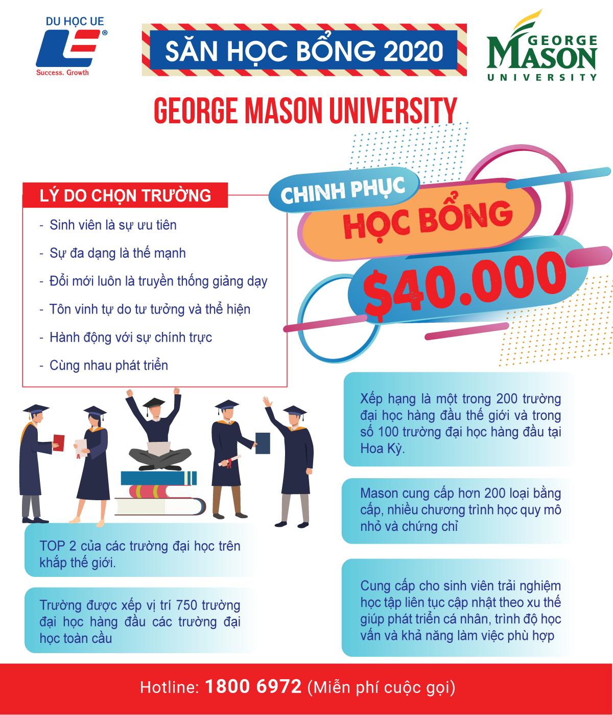 Chinh phục học bổng $40.000 từ George Mason University - Môi trường đào tạo giáo dục lý tưởng đa văn hóa và sắc tộc