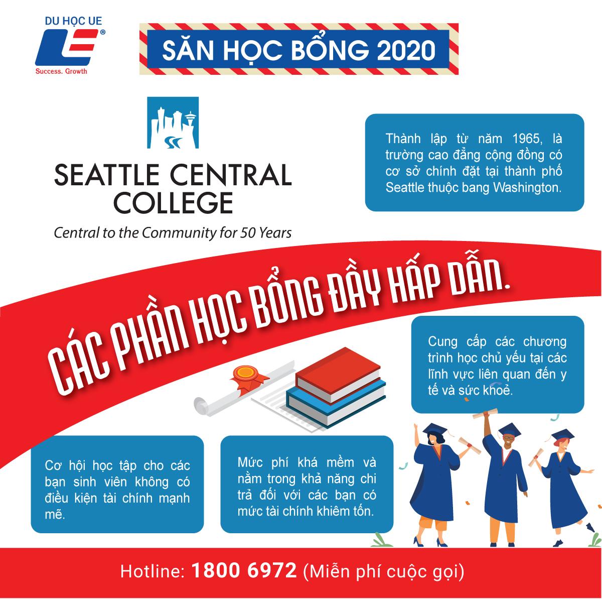 Cơ hội du học với điều kiện tài chính tầm trung tại Seattle Central College