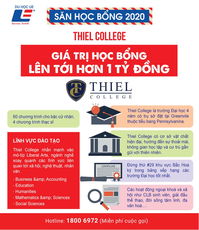 Cơ hội rinh học bổng khủng tại Thiel College