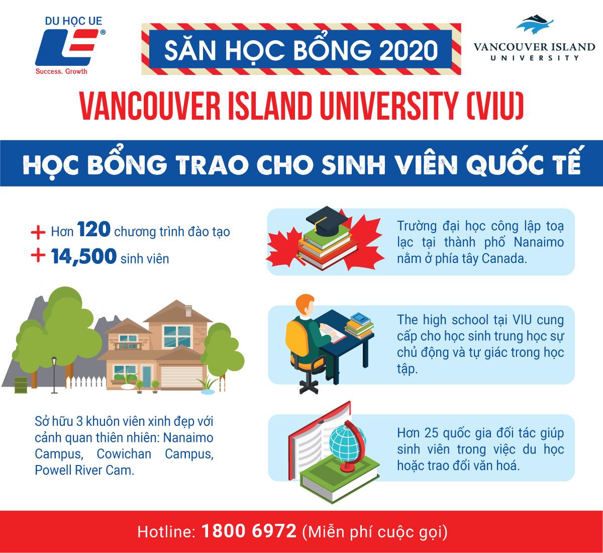 Cùng Du học UE chinh phục các suất học bổng danh giá tại Vancouver Island University, Canada