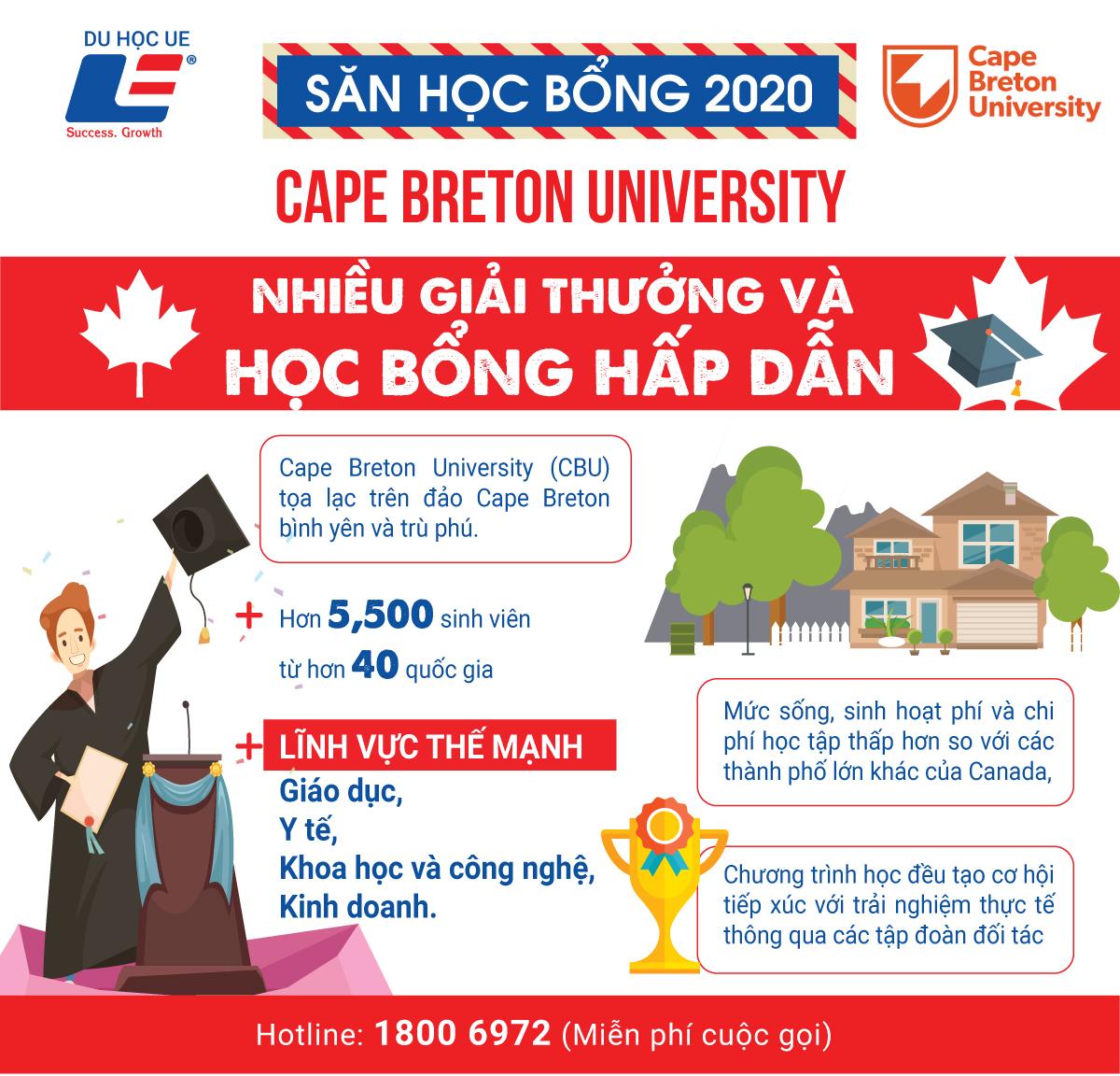 Du học học bổng trường Cape Breton University tại đảo Cape Breton bình yên, Canada