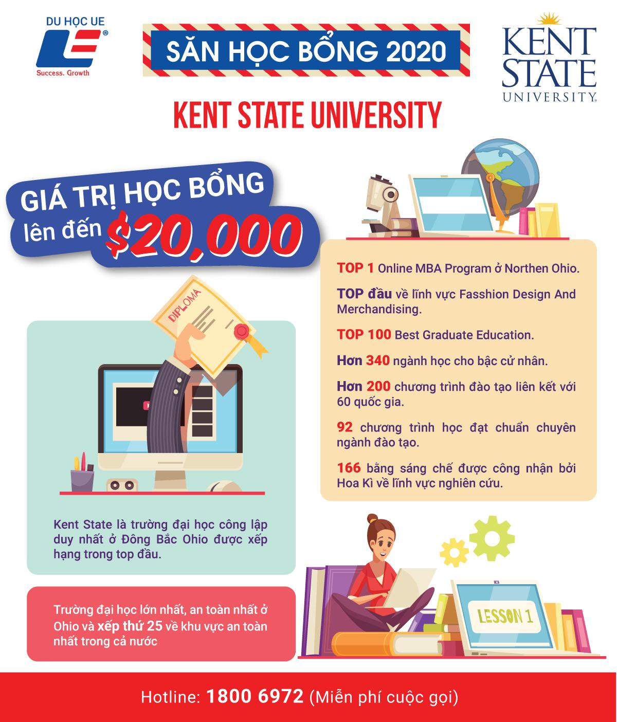 Kent State University - Lựa chọn đầy lý tưởng cho các bạn trẻ tại xứ sở cờ hoa