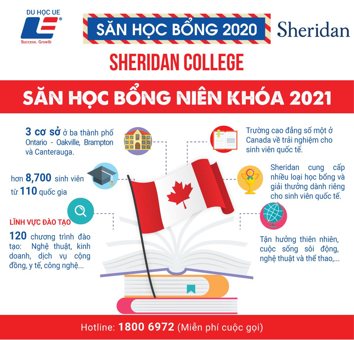 Trường cao đẳng hàng đầu Ontario và cơ hội săn học bổng niên khóa 2021 cùng Sheridan College